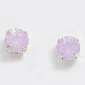 NWT Swarovski Crystal lilac stud earrings